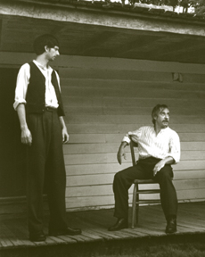 Hanrahan and Wassilak in THE BALLAD OF JESSE JAMES